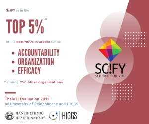 SciFY in the top 5% of Greek NGO